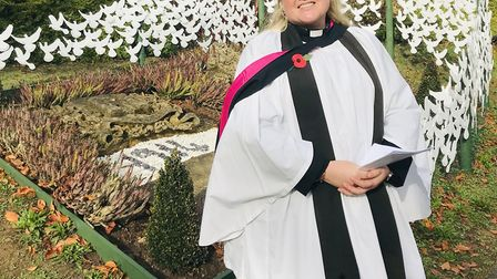 More than 300 doves were unveiled at Ipswich Prep School by school chaplin Rev Holly Crompton-Batter