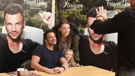 Peter Andre is a hit with fans in Ipswich. Picture: ARCHANT