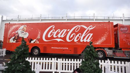 The Coca Cola truck will not come to Ipswich this year, 2018. Picture: GREGG BROWN