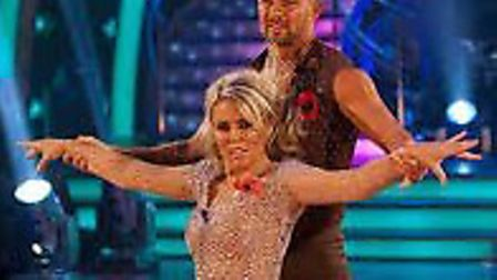 Robin Windsor dances with Patsy Kensit Picture: BBC