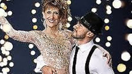 Robin Windsor dances with Anita Dobson Picture: BBC