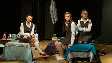 Cameron Jarrold, Livvy Campbell-Barr and Lucy Stokes in Numbers Picture: MIKE KWASNIAK