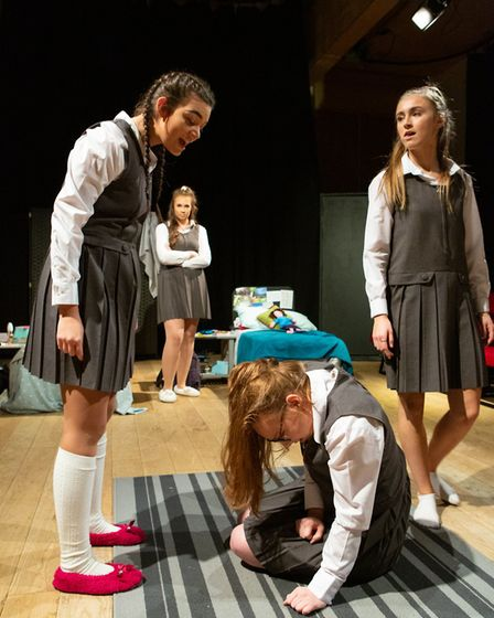 Cameron Jarrold, Livvy Campbell-Barr, Beth Shave and Lucy Stokes in Numbers Picture: MIKE KWASNIAK