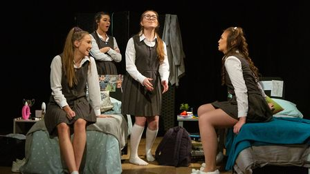 Lucy Stokes, Cameron Jarrold, Beth Shave and Livvy Campbell-Barr in Numbers Picture: MIKE KWASNIAK