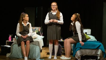 Lucy Stokes, Beth Shave and Livvy Campbell-Barr in Numbers Picture: MIKE KWASNIAK