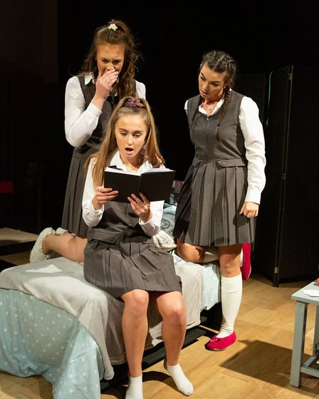 Cameron Jarrold, Lucy Stokes and Livvy Campbell-Barr in Numbers Picture: MIKE KWASNIAK