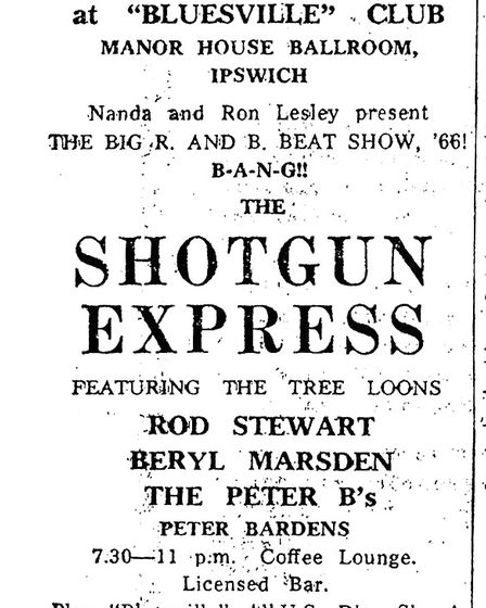 Rod Stewart was at the Manor Ballroom in 1966 with Shotgun Express. He was also a regular visitor wi