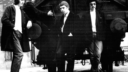 The Pete Croft Blues Band in 1968. From the left Peter Croft, Johnny Roach, Phil Quinby, and Paul Gi