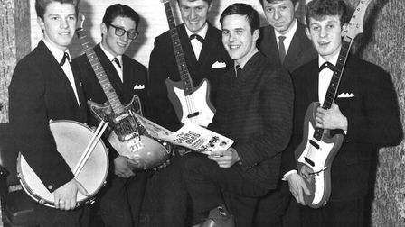Paul Glazebrook was in several bands. He was with the Silhouttes when this photograph was taken in 1