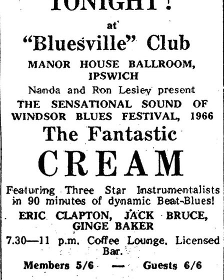 Graham Day recalls the Bluesville gigs in Ipswich held at the Manor Ballroom and the Baths Hall. T