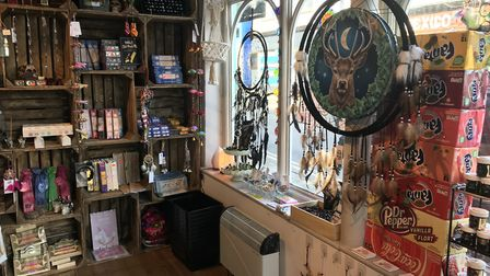 The shop features 'hippie' gifts and boho items. Picture: SOPHIE BARNETT