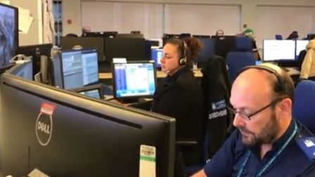 Suffolk Constabulary's contact and control room has seen a rise in people reporting crime online Pi