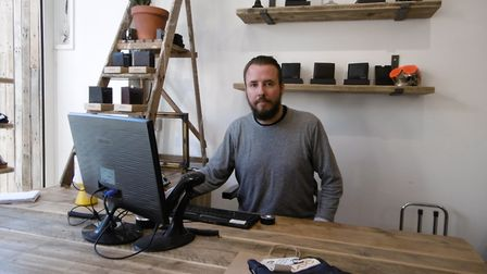 Uniform Reaseach Ipswich Owner Daniel Le Sauvage in the rebranded Queen Street boutique. Picture: D