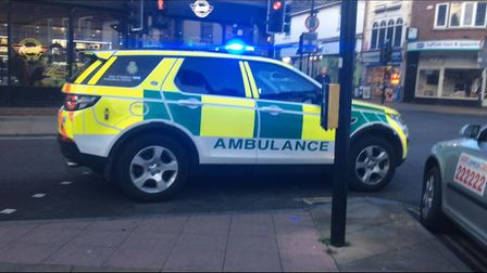 Police and the ambulance service are on the scene Picture: NANCY HOWLETT