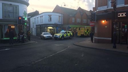 The ambulance service have been called to an incident in Lower Brook Street, close to the St Elizabe