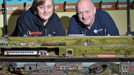 Tammy and David Palmer with their model Picture: SARAH LUCY BROWN