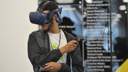 Visitors got to try out virtual reality games at Game Anglia 2018 Picture: SARAH LUCY BROWN