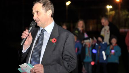 Cllr Robert Whiting speaking at the event Picture: SARAH LUCY BROWN