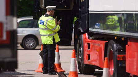 The operation took place at the Tesco car park at Copdock Interchange Picture: ARCHANT