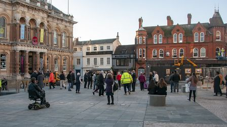 People were quick to use the newly-reopened Cornhill. Picture: NICOLE DRURY/IBC