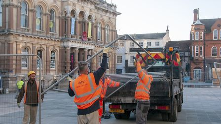 The barriers come down at the Cornhill. Picture: NICOLE DRURY/IBC