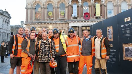 Brooks and Wood workers after the Cornhill reopened. Picture: NICOLE DRURY/IBC