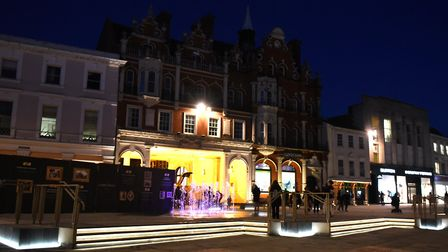 The new look Cornhill in Ipswich town centre Picture: SARAH LUCY BROWN