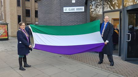 MP for Ipswich Central Sandy Martin and Mayor Jane Riley attended the march. Picture: RACHEL EDGE