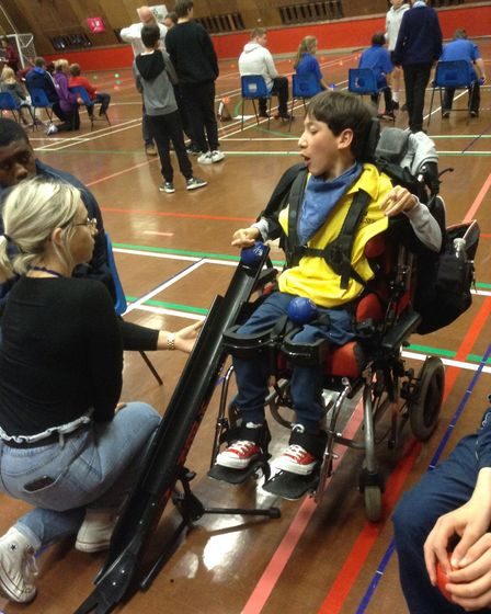 Thomas Wolsey Academy's Boccia team will now compete in the regional championships Picture: PAULINE