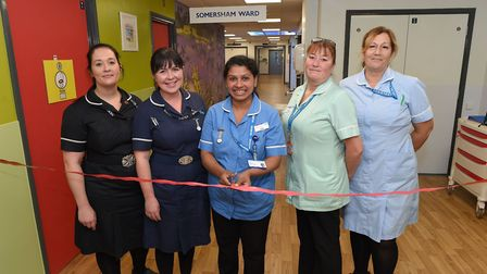 The team on the Somersham Ward celebrated the grand reopening with all new facilites, playrooms and