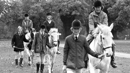 People taking horse riding lessons in Christchurch Park Picture: ARCHANT
