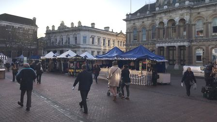 Ipswich market on the Cornhill in January. Picture: ARCHANT