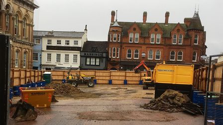 The work at Ipswich Cornhill . Picture: PAUL GEATER