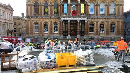 Progress on the Cornhill as it nears completion Picture: ARCHANT