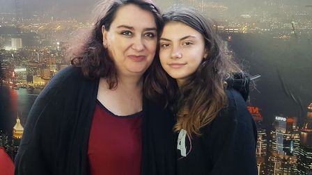 Rosa Mantiega and Roma Nicholson share how bullying has impacted their family. Picture: SOPHIE BARNE