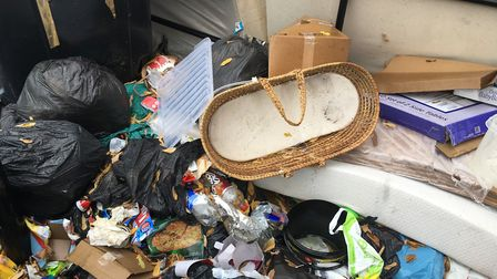 The mounds of rubbish contain bags of food and household waste Picture: ARCHANT