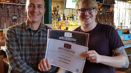 The winner of the 2018 Briarbank Brewery homebrew competition was John Watson with his Sir Lancerhop
