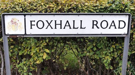 Foxhall Road sign, Ipswich. Picture: ARCHANT
