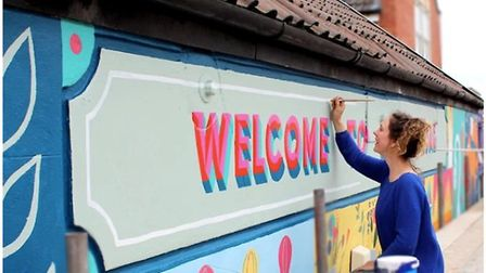 Zoe Power will be one of the artists producing a street art mural in collaboration with residents in