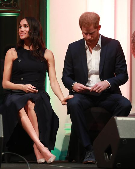 The Duke and Duchess of Sussex at a reception at the Auckland War Memorial Museum, New Zealand. PRES