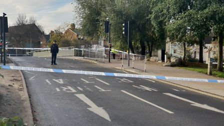 Stoke Bridge in Ipswich has been closed into town after a woman was found with head injuries last ni