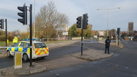 A police corden has been put in place Picture: ADAM HOWLETT