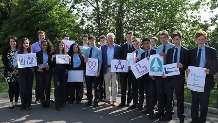 The launch of Haverhill LifeLink at the Samuel Ward Academy last year Picture: DAVE GOODERHAM