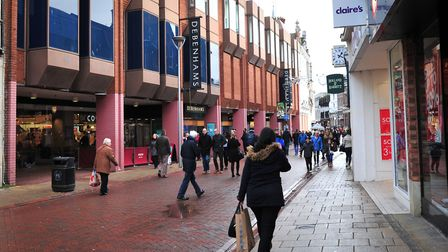 Debenhams on Westgate Street, Ipswich. The chain has warned of threats to some of its department sto
