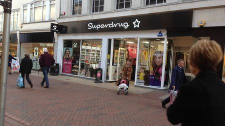 Superdrug in its new home in Tavern Street Picture: JUDY RIMMER