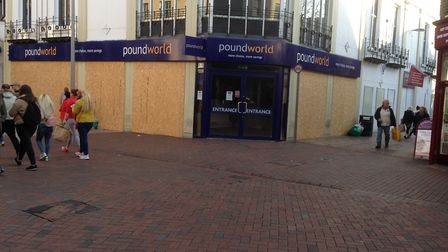 The former Poundworld store in Tavern Street, which is now standing empty. Picture: JUDY RIMMER