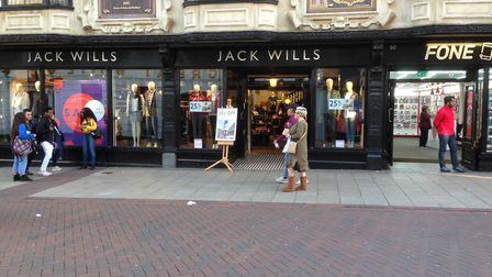Jack Wills is one of a number of stores to have moved into the town centre over the last few years.