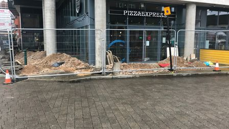 The Pizza Express restaurant in Key Street, along the Ipswich Waterfront, has closed unexpectedly an
