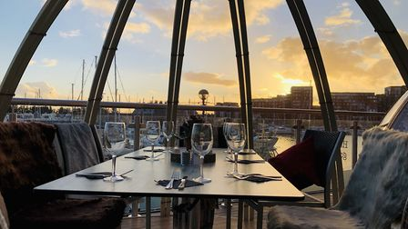 Isaacs on Ipswich Waterfront has installed four 'igloos' for private party hire Picture: Pulkit Kat