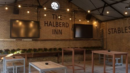 The new terrace at The Halberd Inn Picture: SARAH LUCY BROWN